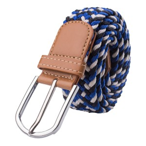 Wave Blue Elasticated Woven Belt