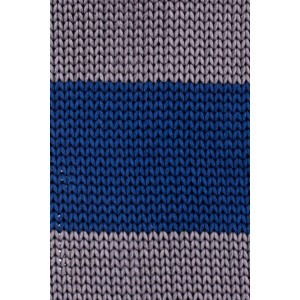 Turf Stripe Blue And Grey Slim Handmade Knitted Necktie