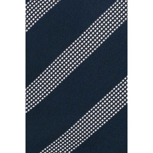 District Blue And Grey Stripe Microfiber Necktie
