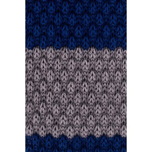 Cast Stripe Blue And Grey Slim Handmade Knitted Necktie