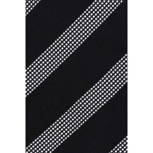 District Black And Grey Stripe Microfiber Necktie
