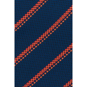 Tropical Blue And Red Striped Microfiber Necktie