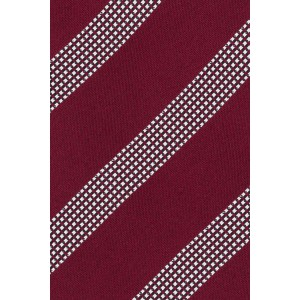 District Maroon And Grey Stripe Microfiber Necktie