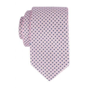 Blush Pink with Teal Floral Reversible 100% Microfiber Necktie