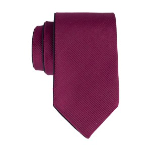 Navy with Magenta Polka Reversible 100% Silk Necktie