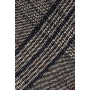 Marshall Grey,Maroon and Black Plaid 100% Cotton Necktie