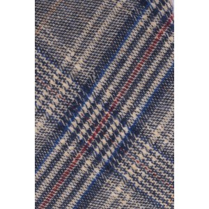 Marshall Grey and Navy Checkered 100% Cotton Necktie