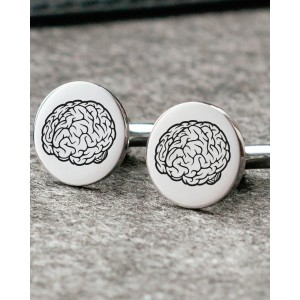 Personalised Engraved Round Wedding or Logo Cufflinks