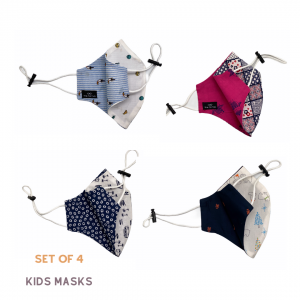 Set of 4 Cotton Mask for Kids