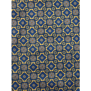Yellow And Blue Floral Silk Cravat By The Tie Hub