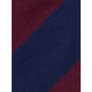 Royal Blue and Maroon Stripe 100% Shantung Silk Necktie