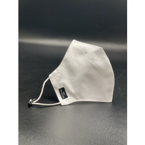 White Solid 100% Premium Cotton Reusable Face Mask