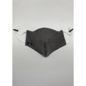 Light Grey Herringbone Wool Mask