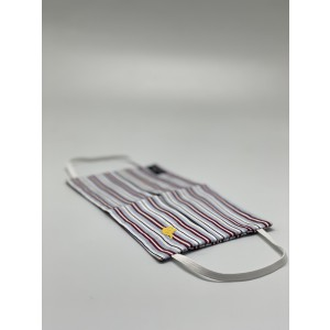 Blue and Maroon Striped 100% Premium Cotton Reusable Face Mask