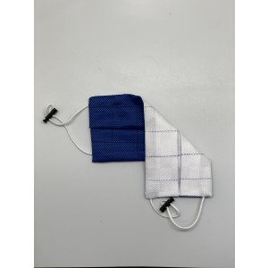 Blue Solid 100% Premium Cotton Reusable Reversible Face Mask