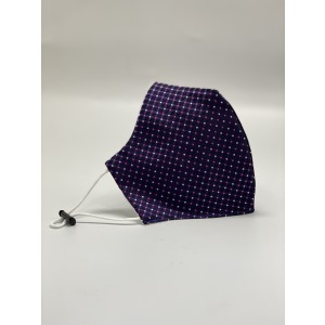 Purple with Pink and White Polka Microfiber Necktie Combo