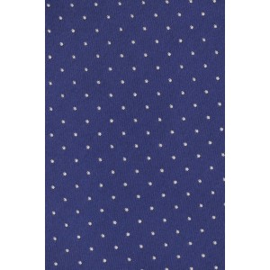 Pin dot Royal Blue with White Polka 100% Silk Necktie
