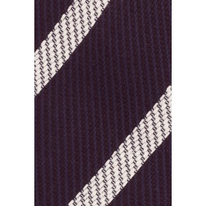 Lumber Plum with White Stripe 50% Silk 50% Wool Necktie