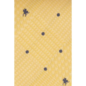 Yellow Derby Horse with Jockey 100% Silk Necktie