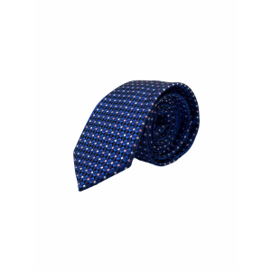 Royal Blue With Pink and blue Polka Microfiber Necktie Combo