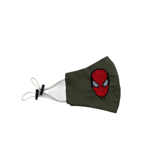 Spider-Man Green Embroidered Mask