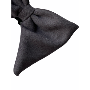 Solid Grey Suede Butterfly Bow Tie
