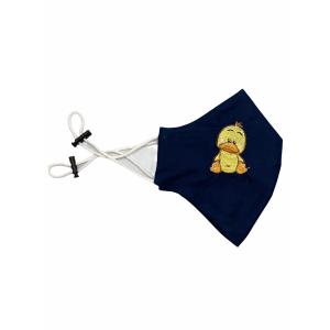 Quacker Blue Embroidered Mask