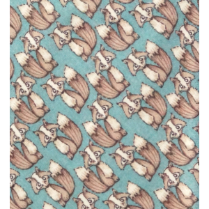 Teal Fox  print Cotton Necktie By The Tie Hub