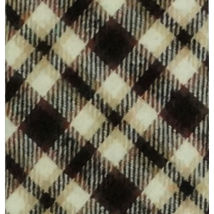 Brown/Black/White Plaid Reversible Slim 100% Wool Necktie