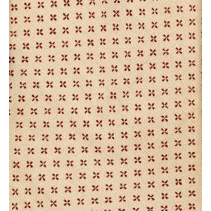 Cream with Maroon Stars Slim Handmade 100% Cotton Necktie