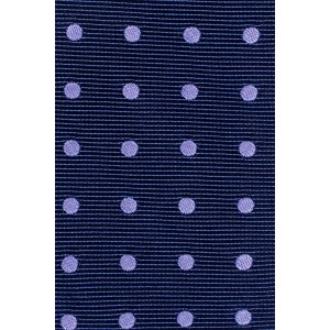 Dotted Hitch Polka Blue and Purple 100% Silk Necktie