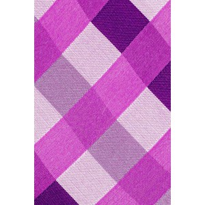 Old City Checks Pink and Purple 100% Silk Necktie