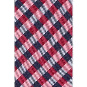 Dawson Checkerd Red 100% Silk Necktie