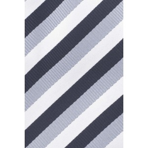 Hutton Stripe Blue and Sky Silk Necktie