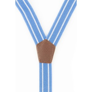 Vesstan Sky Blue With White Lines Suspender