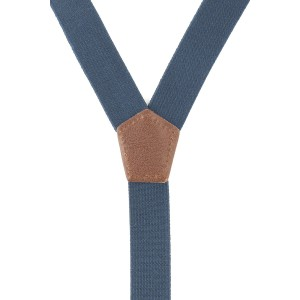 Ringside Solid Blue Y Back Slim  Suspender
