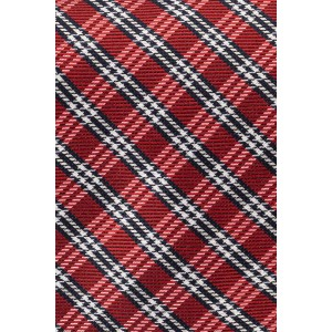 Andersen Maroon with White and Navy Checkered 100% Silk Necktie