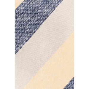 Dual Texture Yellow and Blue 100% Silk Necktie