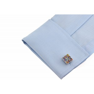 Multi color Square Cufflink