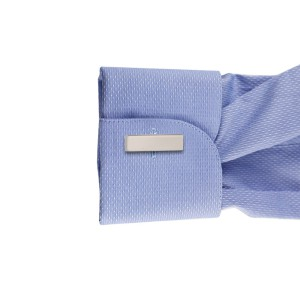 Parallel Plain Square Brass Cufflinks