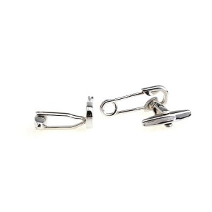 Safety Pin Silver Cufflink By The Tie Hub