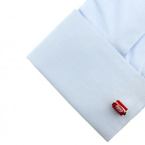 Soft Drink Can Red Cufflinks for Men