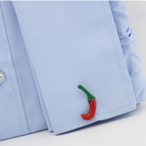 Green and Red Chilly Cufflinks