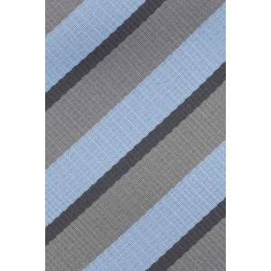Stripe Blue and Grey Microfiber Necktie