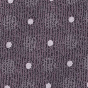 Silk 7 Fold Necktie Grey With White Dots