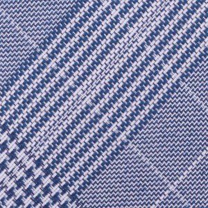 Silk 7 Fold Blue Necktie in Plaid By The Tie Hub