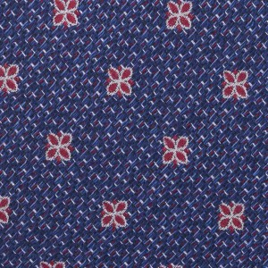 Blue Floral 7 Fold Silk Necktie By The Tie Hub