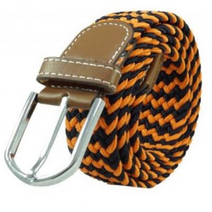 Wave  Orange and Black Elasticated Belt