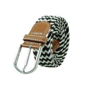 Wave Braid - Black/White (Belt)