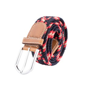 Mink Blue Red Cream Elasticated Woven Belt